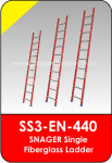 Snager Single Fiberglass Ladder